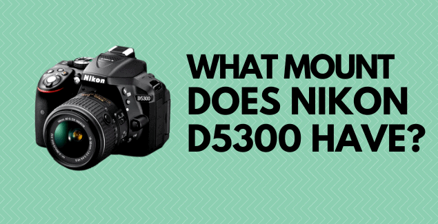 Does Nikon D5300 have an F-mount