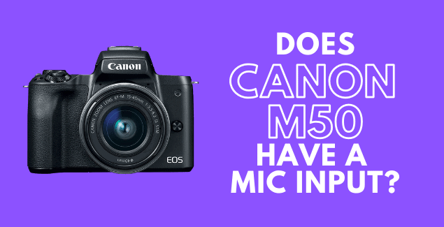 Does canon eos m50 have a mic input